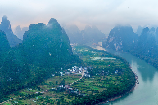 桂林山水「漓江の景観を GuanXi 中国」:スマホ壁紙(13)