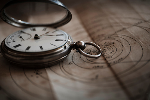 Watch - Timepiece「Antique watch on diagram」:スマホ壁紙(6)