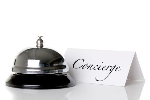 Service Bell「Concierge bell and nameplate against a white background」:スマホ壁紙(15)
