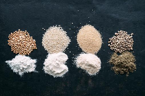 Buckwheat「Pseudocereals and flour, Buckwheat, Quinoa, Amaranth, Hemp」:スマホ壁紙(0)