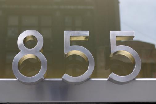 数字の8「Number 855」:スマホ壁紙(12)