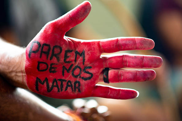 Brasilia「Indian People Protest Against President Bolsonaro's Government Project About Indigenous Land Exploitation」:写真・画像(18)[壁紙.com]