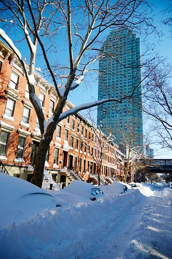 雪の吹きだまり「Blizzard in New York, January 2016」:スマホ壁紙(18)