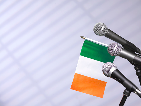 Party Conference「Ireland flag and mics」:スマホ壁紙(16)