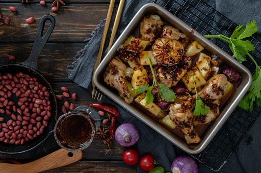 Baked Potato「homemade baked potato and chicken wings」:スマホ壁紙(6)