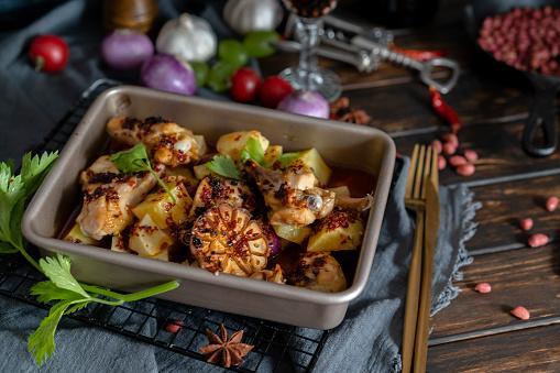 Baked Potato「homemade baked potato and chicken wings」:スマホ壁紙(10)