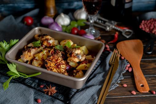 Baked Potato「homemade baked potato and chicken wings」:スマホ壁紙(15)