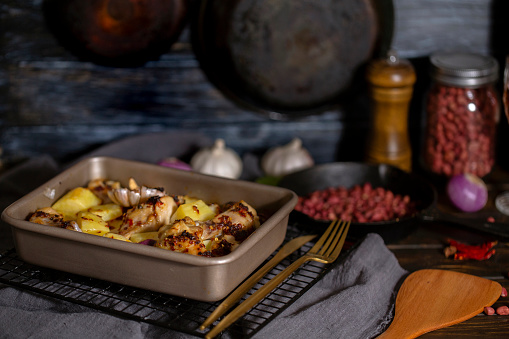 Baked Potato「homemade baked potato and chicken wings」:スマホ壁紙(4)