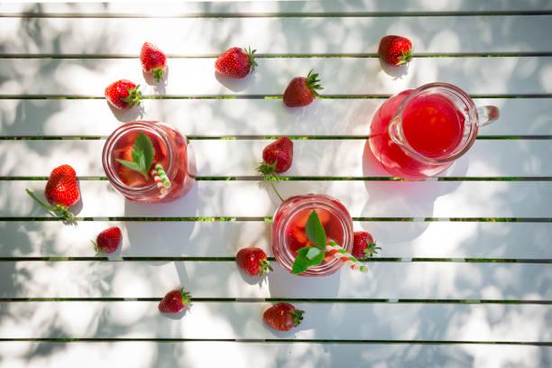 Homemade strawberry lemonade:スマホ壁紙(壁紙.com)