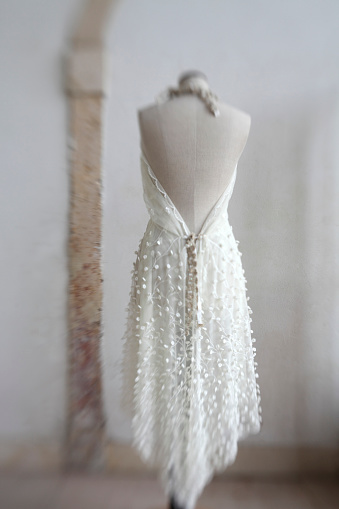 Dress「Wedding dress hanging on mannequin」:スマホ壁紙(18)