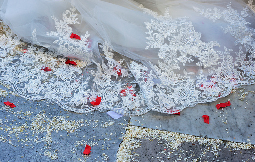Married「Wedding dress, sprinkled rice which brings luck, Tuscany, Italy」:スマホ壁紙(13)