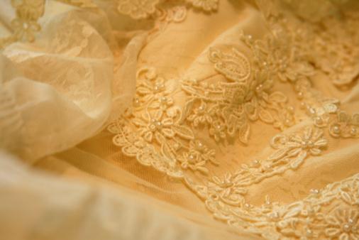 Embroidery「Wedding Dress Lace Detail: Romance Background」:スマホ壁紙(15)