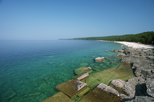 Bruce Peninsula National Park「Wide scene Georgian bay」:スマホ壁紙(11)