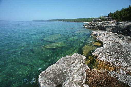 Bruce Peninsula National Park「Wide scene Georgian bay」:スマホ壁紙(12)