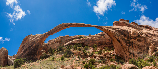 Landscape Arch「Natural arch in Arches National Park, Utah, USA」:スマホ壁紙(18)