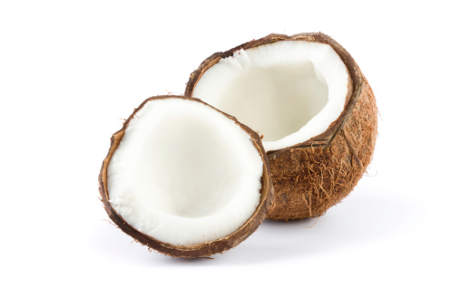 Part Of「broken coconut isolated on white」:スマホ壁紙(2)