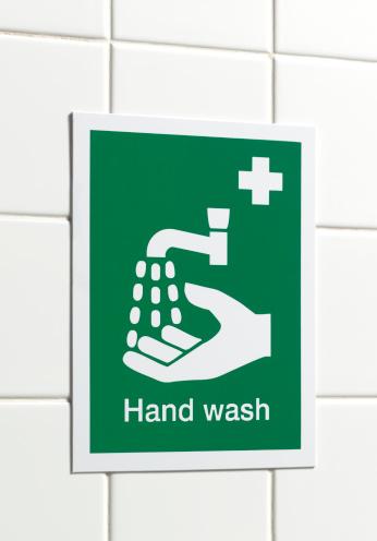 Restroom Sign「Workplace hand wash sign」:スマホ壁紙(1)