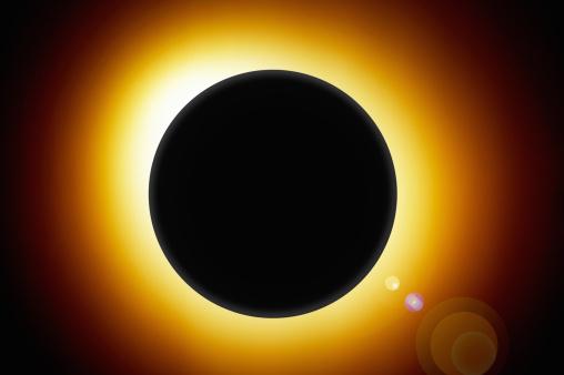 Corona - Sun「Eclipse with glowing sun behind globe」:スマホ壁紙(13)
