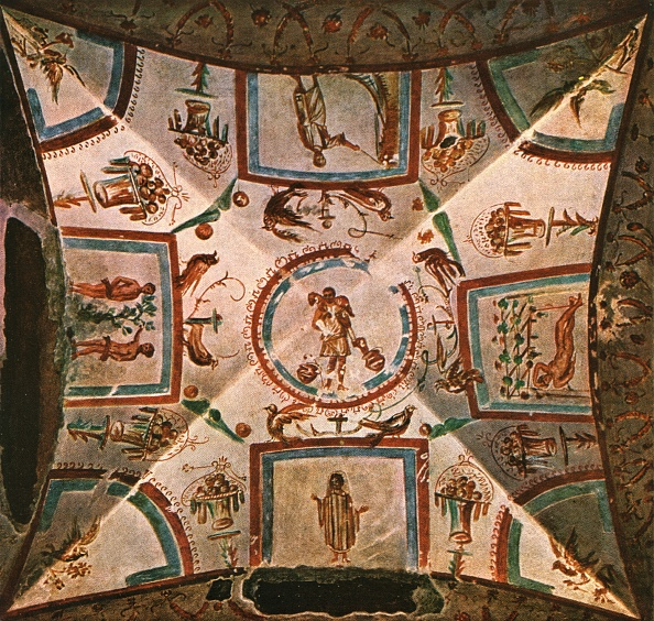 Ceiling「Ceiling In Chamber Ii Of The Coemeterium Maius On The Via Nomentana」:写真・画像(15)[壁紙.com]