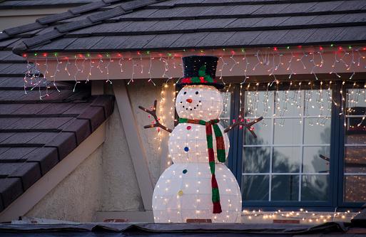 雪だるま「Home Christmas decorations」:スマホ壁紙(6)