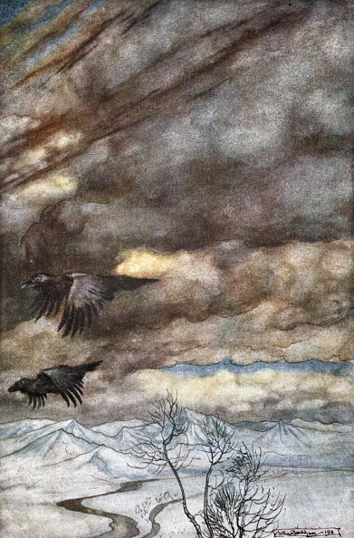 Lithograph「The Ravens Of Wotan' 1924」:写真・画像(18)[壁紙.com]