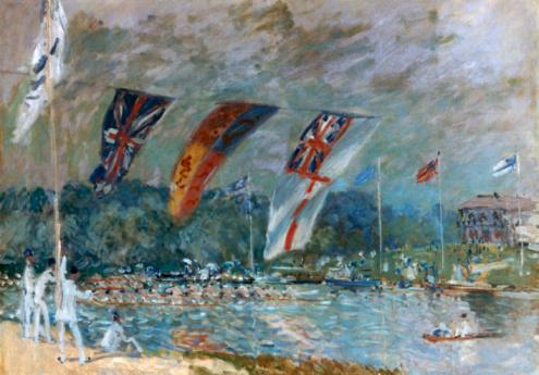 19th Century「'Regatta at Molesey' by Alfred Sisley」:スマホ壁紙(1)