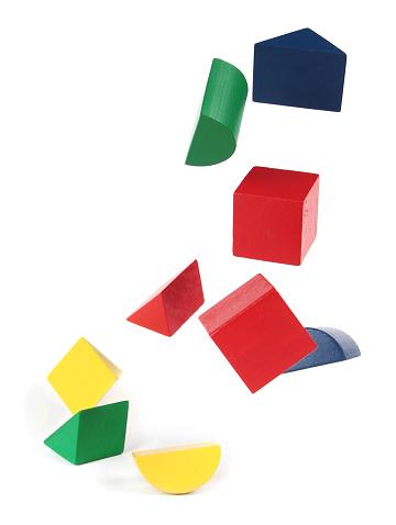 カラフル「Falling ブロック、ホワイト」:スマホ壁紙(9)