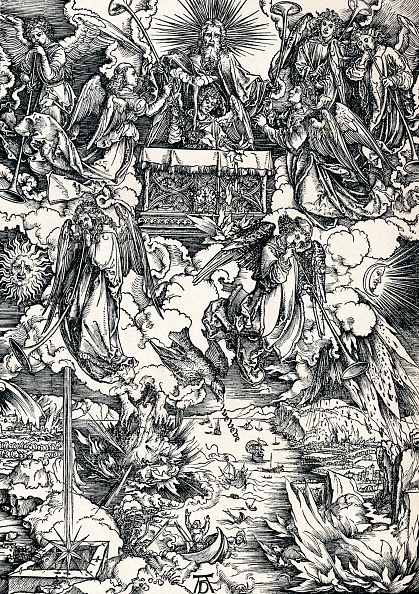 トランペット「'The Seven Trumpets are Given to the Angels', 1498 (1906).  Artist: Albrecht Durer.」:写真・画像(12)[壁紙.com]