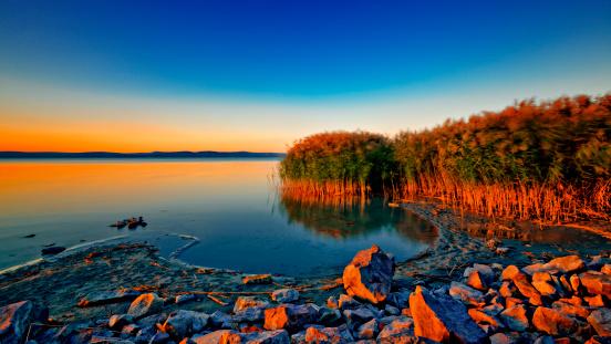 Lake Balaton「Sunset at the lake Balaton」:スマホ壁紙(9)