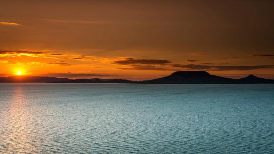 Lake Balaton「Sunset at the Balaton sea, Hungary」:スマホ壁紙(18)