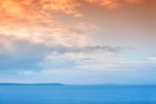 アイリッシュ海「夕暮れ時の海」:スマホ壁紙(7)