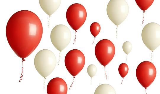 Celebration「赤と白の風船」:スマホ壁紙(2)