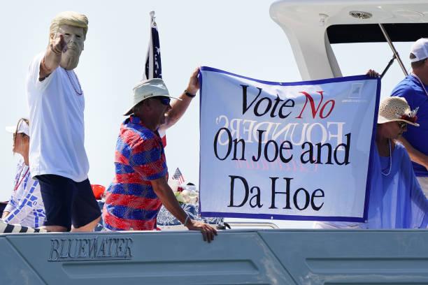 """Pro-Trump """"Great American Boat Parade"""" Held At Lake Lanier In Georgia:ニュース(壁紙.com)"""