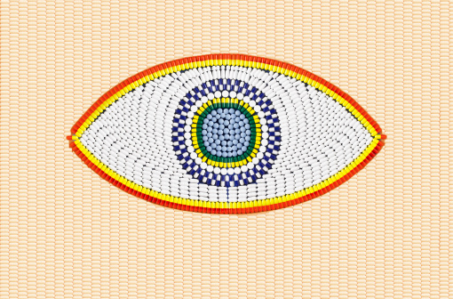 Eyesight「Eye made up of pills on pill background.」:スマホ壁紙(5)