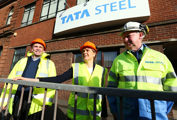 Finance and Economy「The First Minister Visits The Tata Steelworks In Lanarkshire」:写真・画像(17)[壁紙.com]