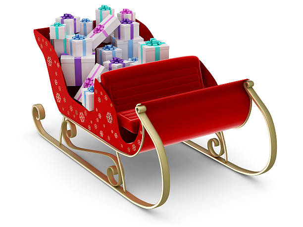 Santa's Sleigh:スマホ壁紙(壁紙.com)