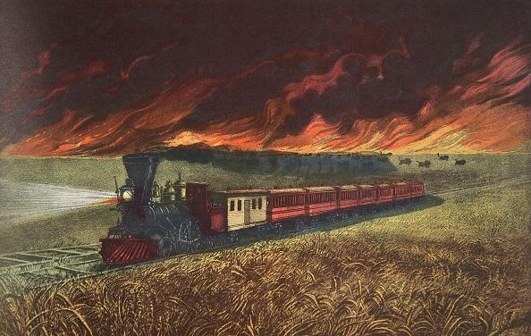 Rail Transportation「Prairie Fires Of The Great West」:写真・画像(17)[壁紙.com]