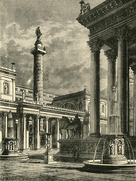 Fountain「The Forum And Column Of Trajan Restoration」:写真・画像(16)[壁紙.com]