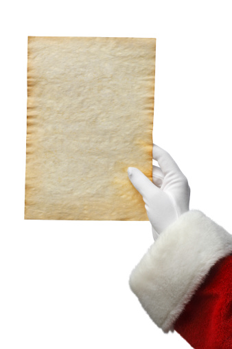 Human Hand「Santa Holding A List」:スマホ壁紙(0)