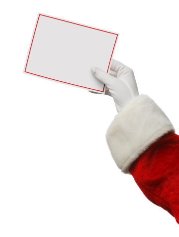 Manuscript「Santa Holding A Blank Card」:スマホ壁紙(13)