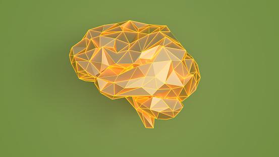 Neuroscience「Artificial Intelligence concept. Brains on wall background」:スマホ壁紙(6)