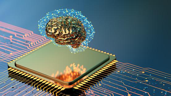 Neuroscience「Artificial Intelligence concept brain with CPU」:スマホ壁紙(0)