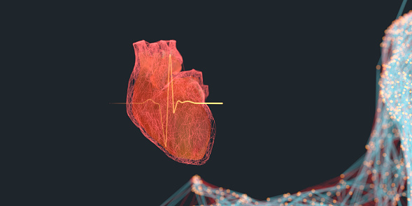 Neuroscience「Artificial Intelligence helping improve human life and health digital concept」:スマホ壁紙(3)