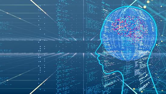 Neuroscience「AI Artificial Intelligence digital concept」:スマホ壁紙(2)
