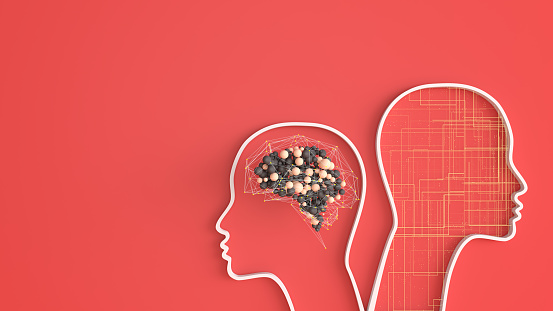 Neuroscience「Artificial Intelligence head shape digital concept」:スマホ壁紙(13)