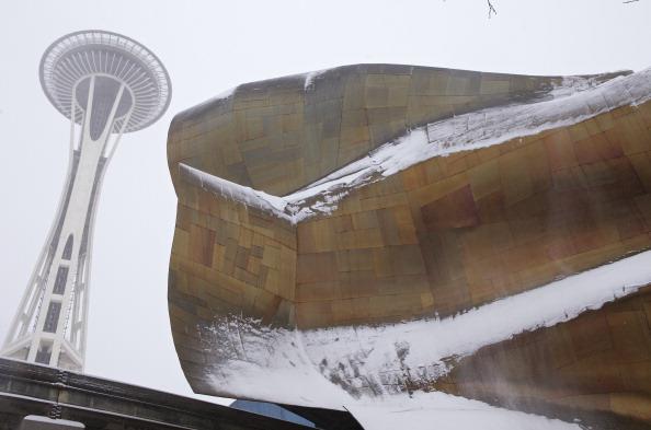 Space Needle「Seattle Area Hit With Snow Storm」:写真・画像(10)[壁紙.com]