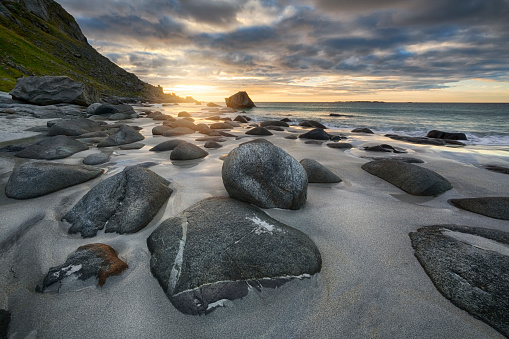 Spirituality「Uttakleiv Beach, Evening Mood, Lofoten, Norway」:スマホ壁紙(12)