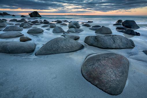 Spirituality「Uttakleiv Beach, Evening Mood, Lofoten, Norway」:スマホ壁紙(3)