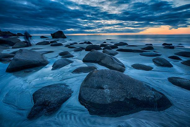 Uttakleiv Beach, Evening Mood, Lofoten, Norway:スマホ壁紙(壁紙.com)