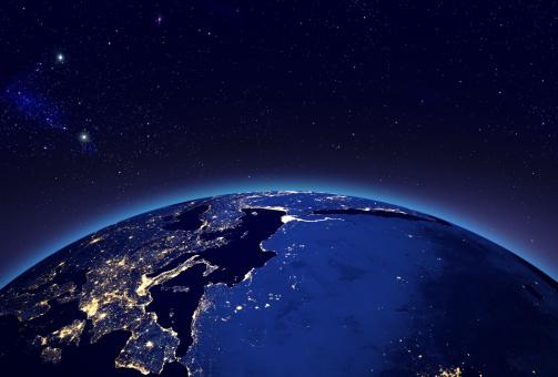 Turkey - Middle East「City lights in Europe」:スマホ壁紙(14)